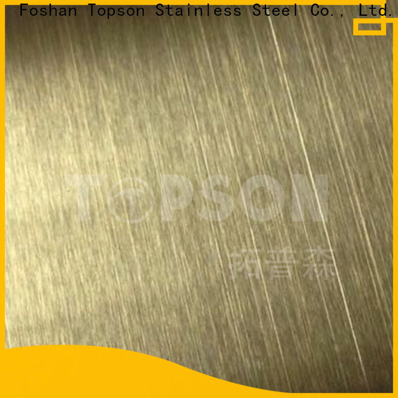 Topson Custom black stainless sheet manufacturers for interior wall decoration