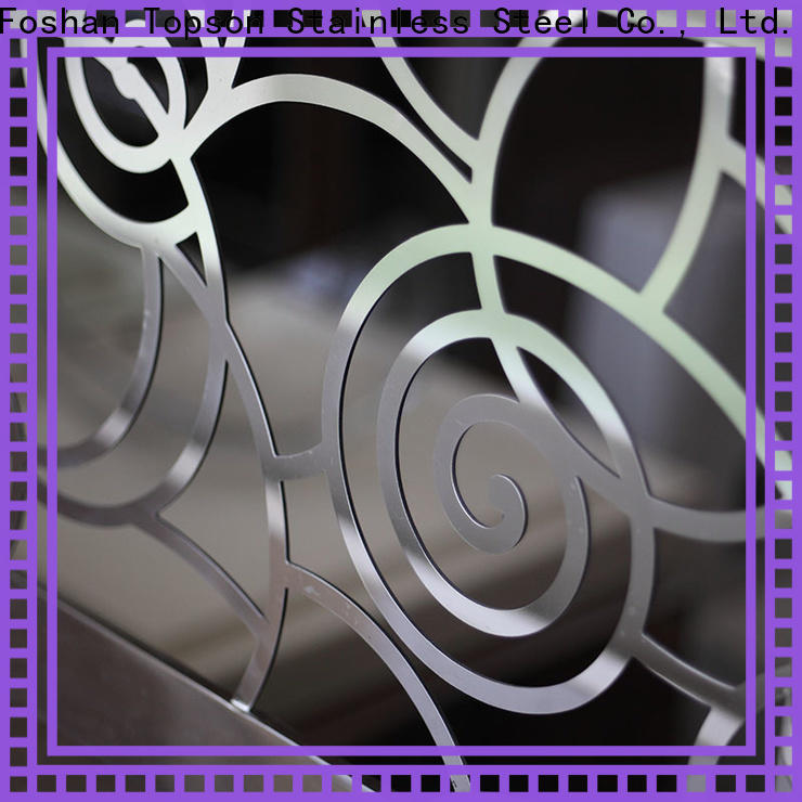 Topson stainless metal and cable stair railing for business for building