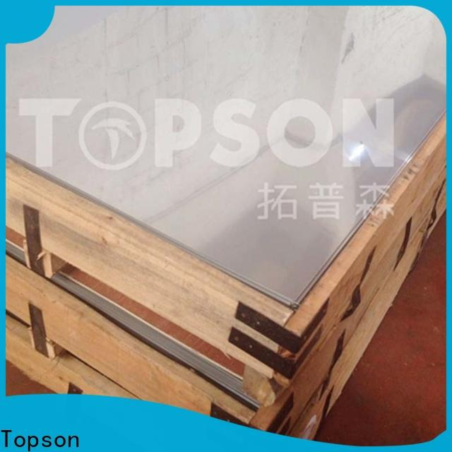 Topson magnificent stainless steel sheet brushed finish Supply for partition screens