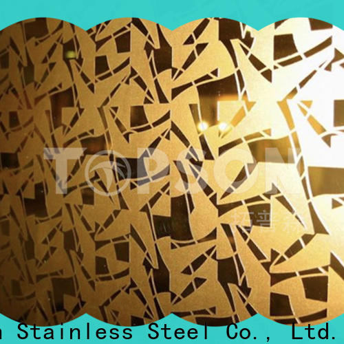 Custom coloured stainless steel sheet suppliers mirror China for partition screens