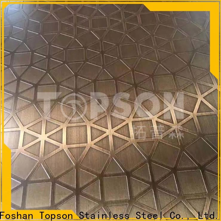Topson etching decor stainless steel company for kitchen