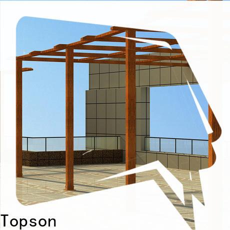 Topson manufactured aluminum pergola kits sale company for garden