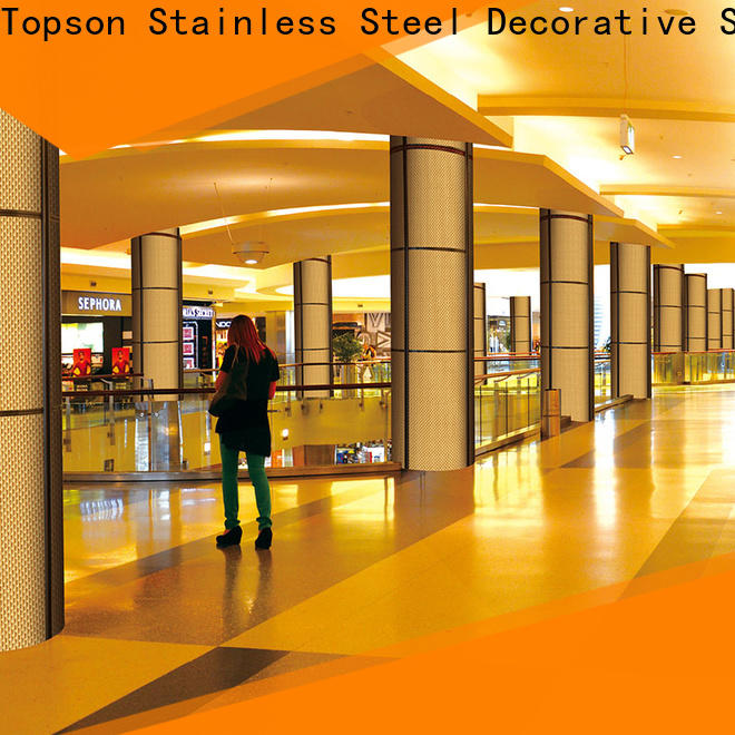 Topson elegant stainless steel cladding cost for shopping mall