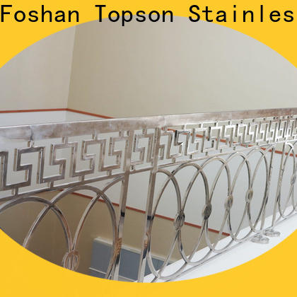 Latest ss steel railing price bridge factory for mall