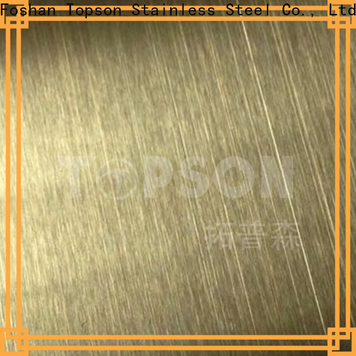 Topson mirror etched design stainless steel sheet manufacturers for floor