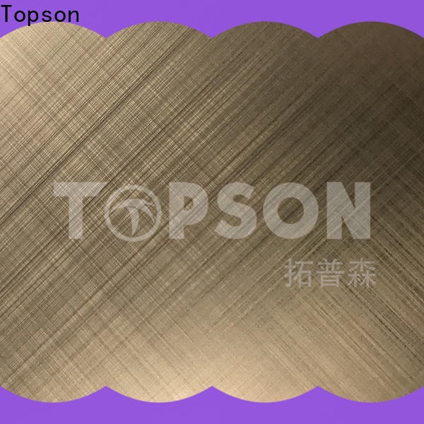 Topson stainless steel plate decoration factory for handrail