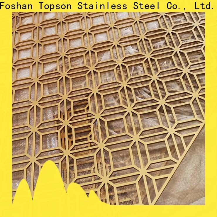 Topson metal perforated wood screen manufacturers for landscape architecture