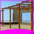Topson coated black steel pergola with canopy for hotel