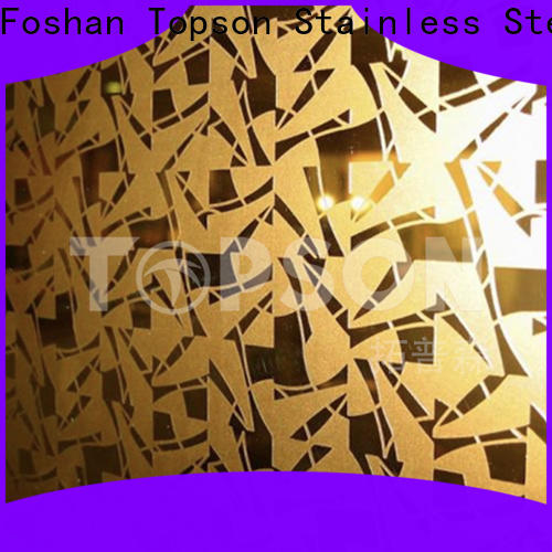 Topson stable mirror stainless steel sheet Supply for handrail