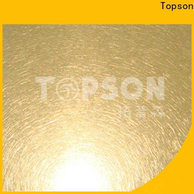 Topson New decorative stainless steel sheet metal Supply for vanity cabinet decoration