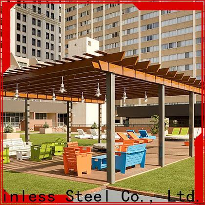 New metal roofing work pergolaaluminum company for backyard