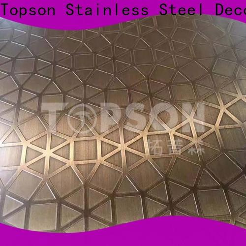 Topson sheetmirror stainless steel sheet prices company for partition screens