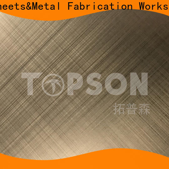 New stainless steel sheet metal cost color factory for interior wall decoration