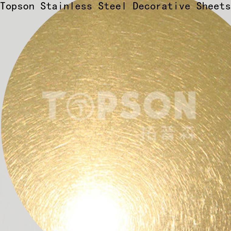 Topson gorgeous stainless steel brushed finish types for business for kitchen