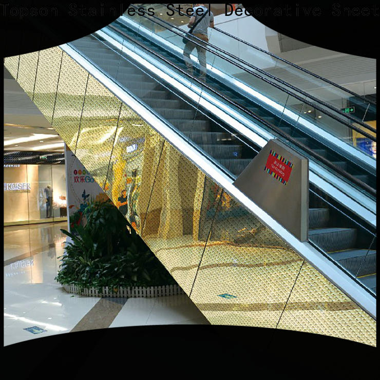 Topson wall stainless steel cladding thickness for lift