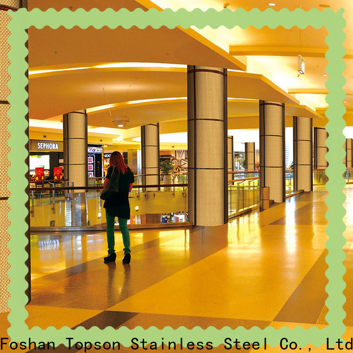 Topson elevator stainless steel wall cladding sheets for business for shopping mall