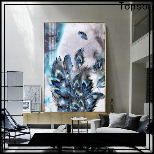 Topson furniture contemporary glass furniture factory for TV wall