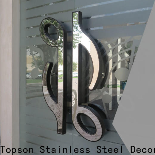 Topson steel metal work supplies for business for decoration
