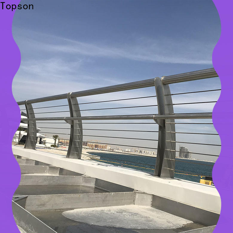 Topson Top stainless steel glass railing systems company for tower