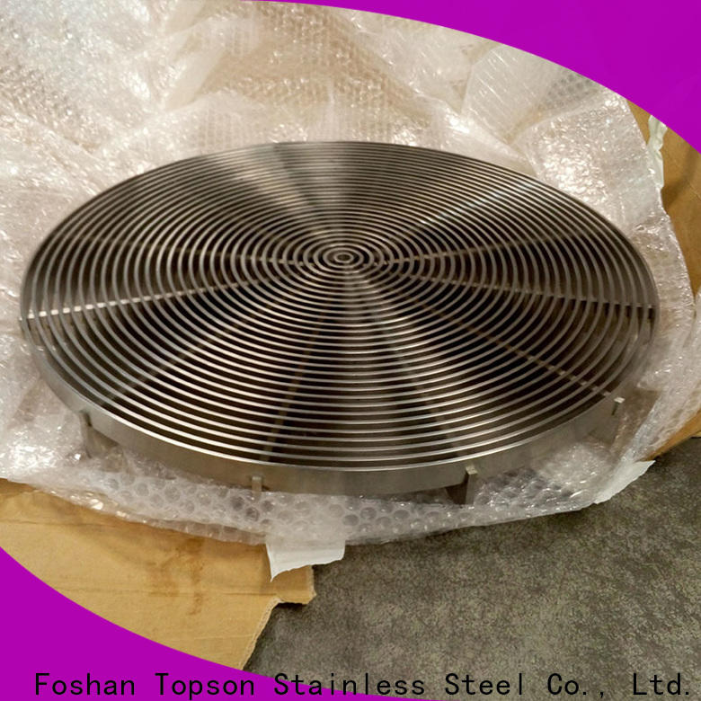 Topson cnc metal bar grating factory for mall
