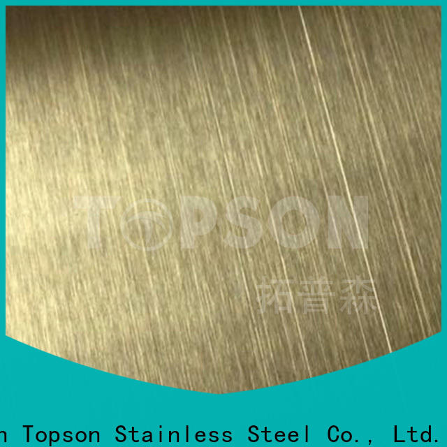Topson Latest stainless steel sheets company for furniture