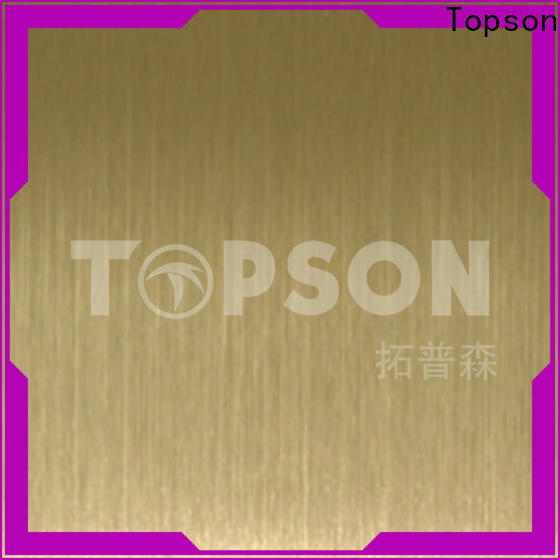 Topson colorful stainless sheet metal for sale Supply for furniture