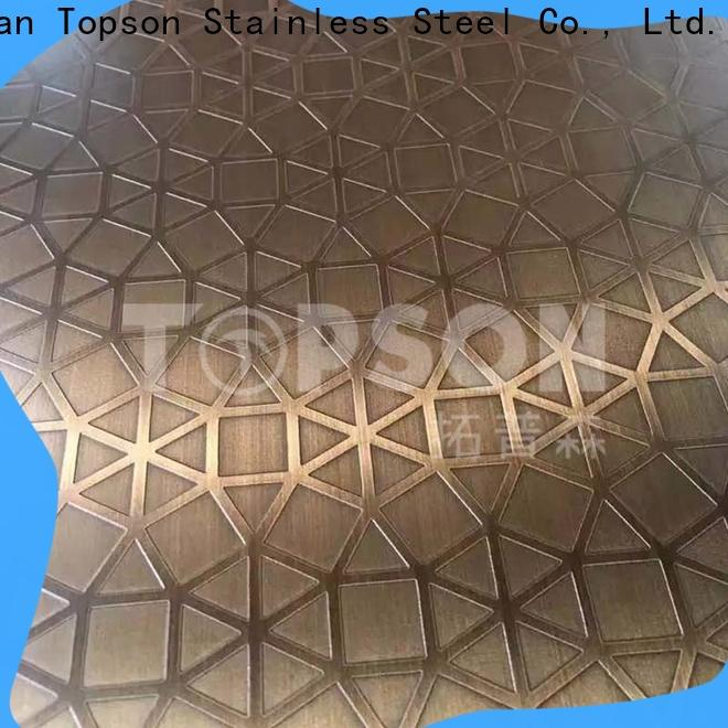 Topson Wholesale coloured stainless steel sheet suppliers for floor