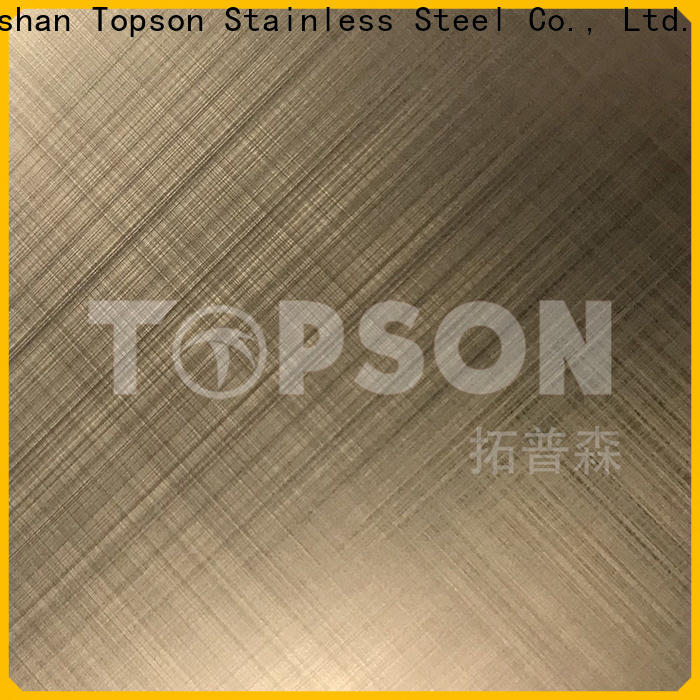 Topson hairline etched design stainless steel sheet China for handrail