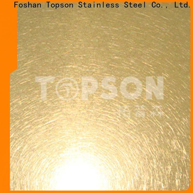 Topson Wholesale stainless steel sheet panels manufacturers for handrail