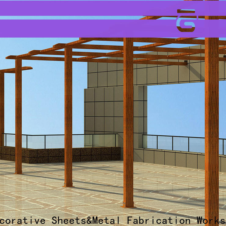 arched steel pergola