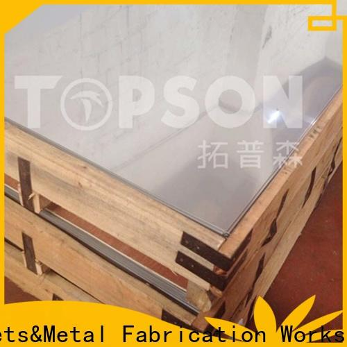 Topson colorful stainless steel decorative plate factory for furniture