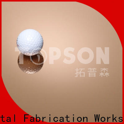 Topson hairline stainless steel sheets manufacturers for interior wall decoration
