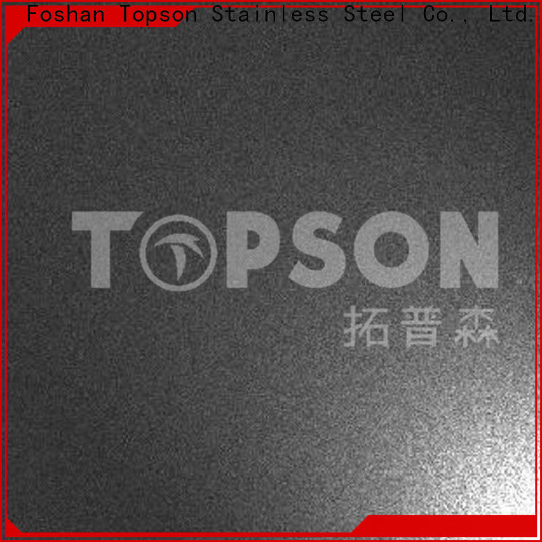 Topson antique stainless steel sheet brushed finish manufacturers for partition screens