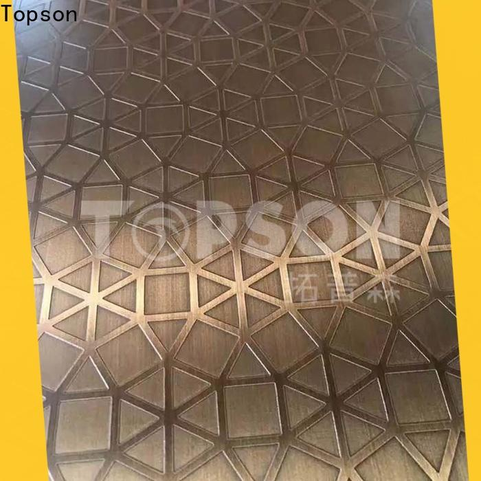 Topson stainless steel sheet suppliers manufacturers for elevator for escalator decoration