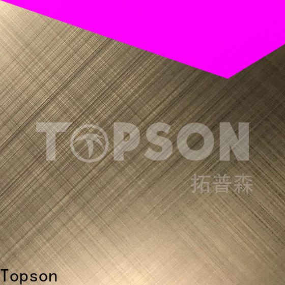 Topson etching decorative stainless steel sheet suppliers for business for vanity cabinet decoration