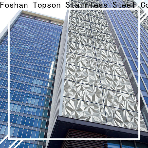 Topson external kitchen wall panel stainless steel manufacturers for wall