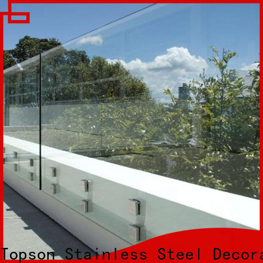 Topson furniture glass fabrication services for hotel