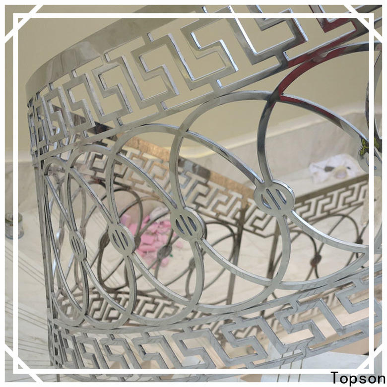 Topson good looking stainless steel and glass balcony railings Supply for tower