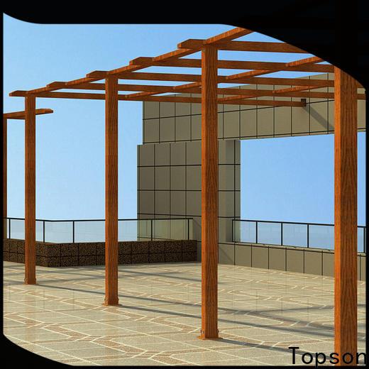 Topson pergolaaluminum custom metal works for business for resort