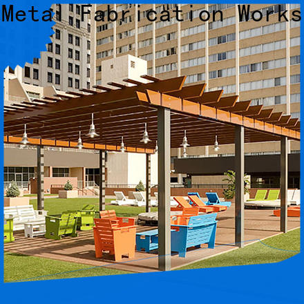 high-density plan pergola aluminium aluminium factory for garden