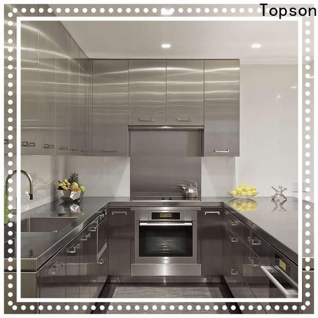 Topson furniture stainless steel commercial kitchen cabinets Supply for outdoor