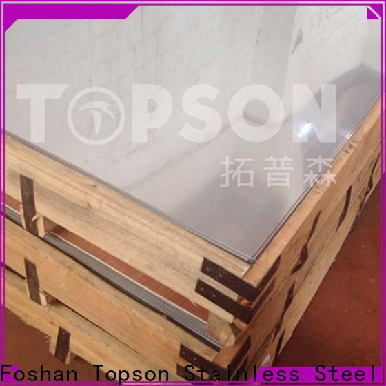 Topson bead stainless steel sheet suppliers for handrail