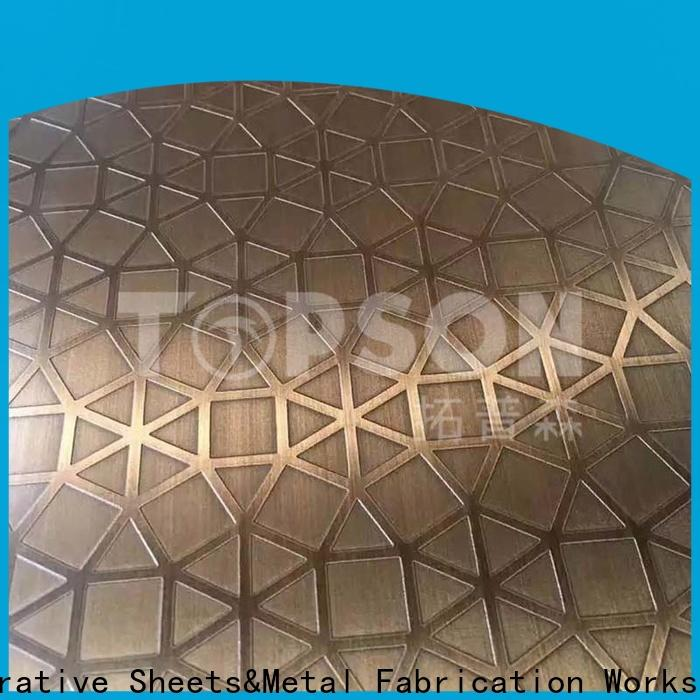 Topson colorful stainless sheet metal manufacturers for partition screens