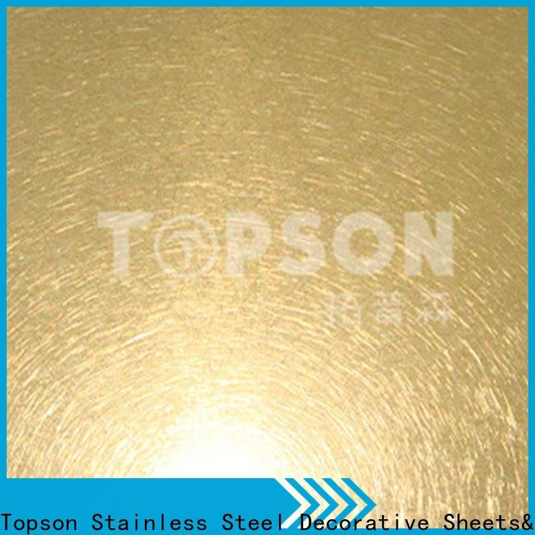 Topson luxurious decorative stainless steel sheet metal Suppliers for kitchen