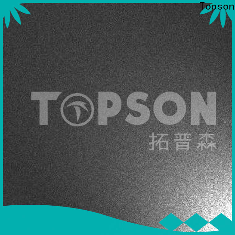 Topson antifingerprint stainless steel embossed plate for business for kitchen