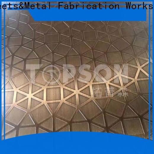 Topson etching stainless steel sheet metal manufacturers China for elevator for escalator decoration