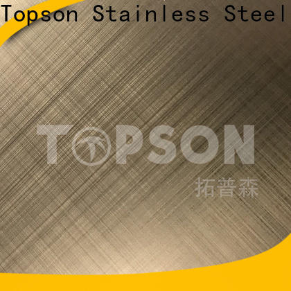Topson blasted decorative stainless steel sheet for interior wall decoration