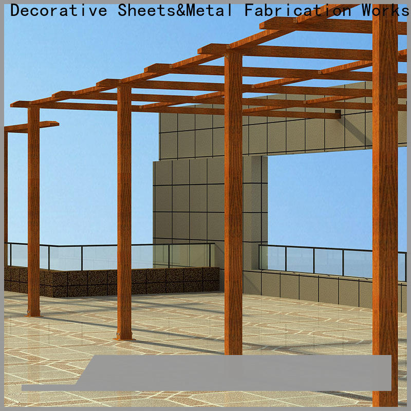 Topson High-quality white aluminum attached pergola factory for resort
