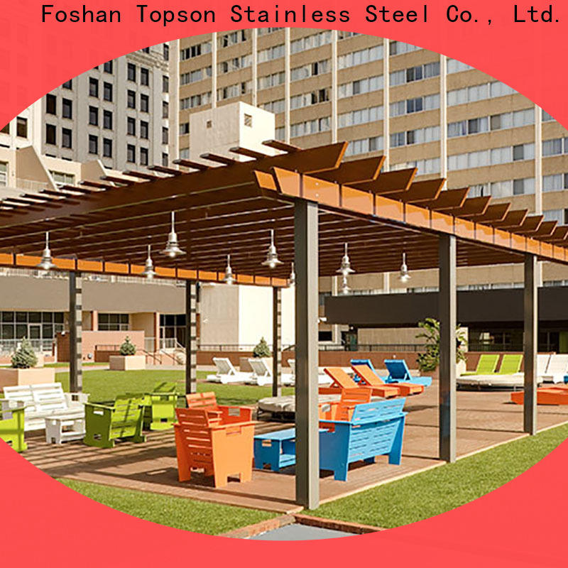Topson manufactured aluminium pergola frame factory for backyard