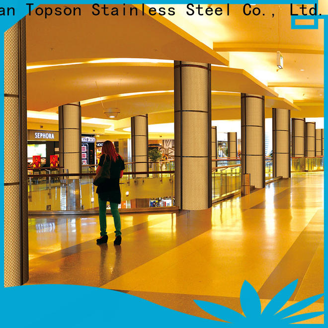 Topson Latest stainless steel cladding panels factory price for wall